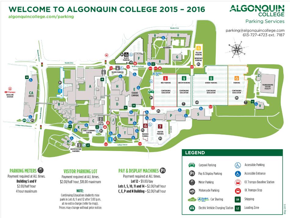 algonquin college woodroffe campus map Woodroffe Campus Map Teel Technologies Canada algonquin college woodroffe campus map