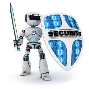 robot and shield security